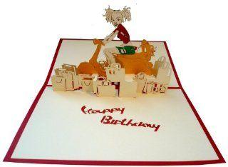POP UP 3D Karte Geburtstagskarte Vespa rot: Bürobedarf & Schreibwaren