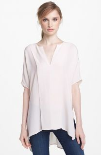 Daniel Rainn Bilson Pleat Front Silk Blouse