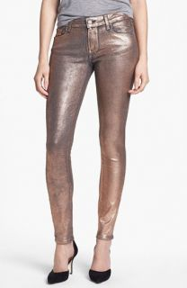 Paige Denim Verdugo Metallic Ultra Skinny Jeans (Rose Gold)