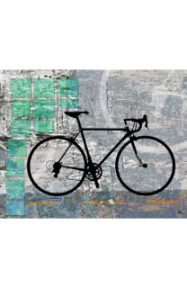 Green Leaf Art Sport Bicycle Wall Art
