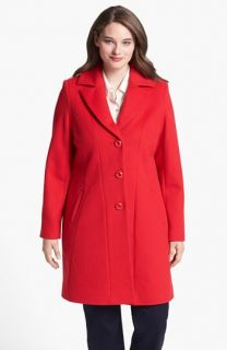Kristen Blake Single Breasted Walking Coat (Plus Size)