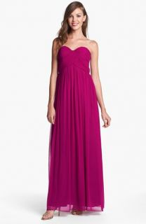 Donna Morgan Laura Ruched Sweetheart Silk Chiffon Gown (Regular & Plus)