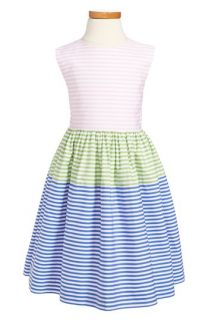Oscar de la Renta Multi Stripe Party Dress (Toddler Girls, Little Girls & Big Girls)