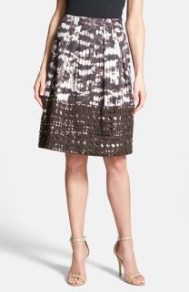 Weekend Max Mara Fresco Eyelet Trim Print Skirt