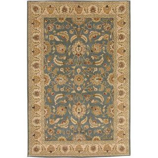 Hand tufted Beige/ Blue Wool Rug (8' x 11') JRCPL 7x9   10x14 Rugs