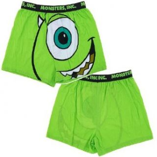 Monsters INC Mike Wazowski Boxer Shorts (Mens SMALL): Clothing