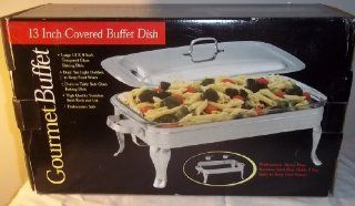 Gourmet Buffet 13 Inch Covered Buffet Dish: Kitchen & Dining