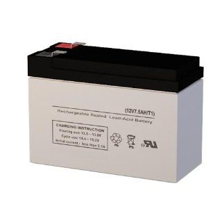 "12 Volt 7 ah Rechargeable Battery with F1 (.187"") Terminals: Automotive"