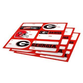 NCAA Georgia Bulldogs 3 Pack Team Gift Tag Sheets   Ornament Hanging Stands
