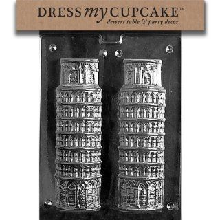 Dress My Cupcake DMCM187BSET Chocolate Candy Mold, Leaning Tower of Pisa, Set of 6: Kitchen & Dining