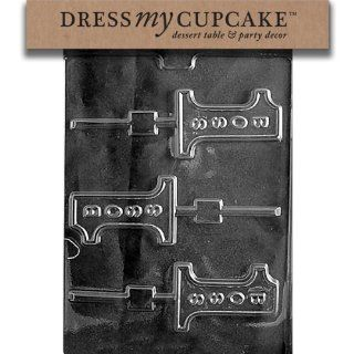 Dress My Cupcake DMCM189 Chocolate Candy Mold, No. 1 Boss Lollipop: Kitchen & Dining