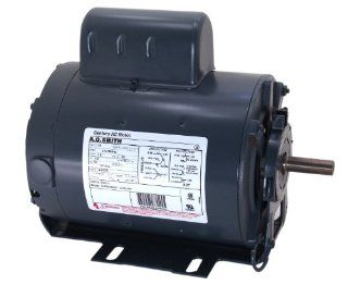 A.O. Smith C196L 1/4 HP, 1725 RPM, 115/230 Volts, 48 Frame, ODP Enclosure, Ball Bearing Capacitor Start Motor: Home Improvement