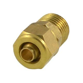 "0.51"" x 0.197"" Pneumatic Air Hose Quick Coupler Connector Fittings Gold Tone: Industrial & Scientific"