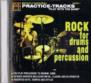 Rock for Drums and Percussion Practice Tracks Play with the Band: Music