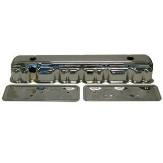 Racer Performance 1962 74 Chevy 194 230 350 292 Straight/Inline 6 Cylinder Steel Valve Cover w/ Side Plates   Chrome: Automotive