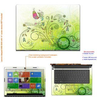 "Decalrus   Decal Skin Sticker for Lenovo Ideapad S400 with 14"" screen (NOTES: MUST view IDENTIFY image for correct model) case cover ideapdS400 19: Computers & Accessories"