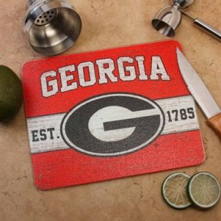 Georgia Bulldogs 8 x 10 Tempered Glass Logo Cutting Board   Red