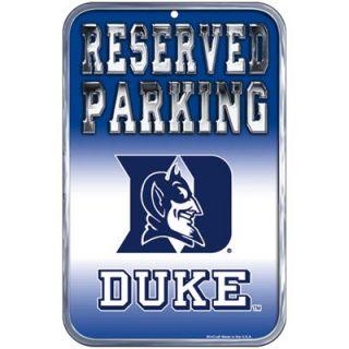 Duke Blue Devils 11 x 17 Reserved Parking Sign