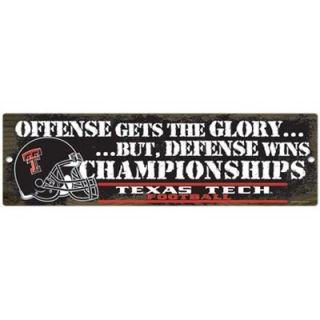 Texas Tech Red Raiders 17 x 6 Defense Wins Wood Sign