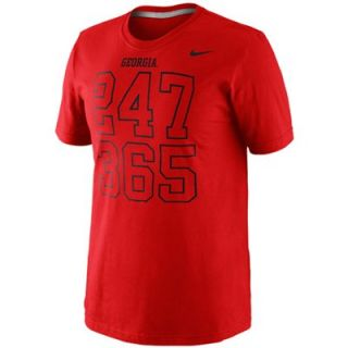 Nike Georgia Bulldogs 24/7 T Shirt   Red