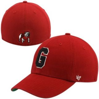 47 Brand Georgia Bulldogs New Vault Franchise Fitted Hat   Red