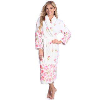 Jasmine Rose Women's Printed Royal Plush 48 inch Robe Jasmine Rose Pajamas & Robes