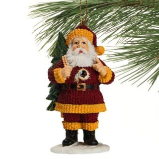 Washington Redskins Santa Toting Tree Ornament   Burgundy