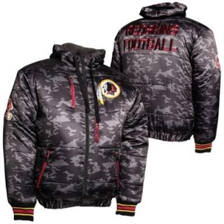 Washington Redskins Black Ops Puffer Full Zip Jacket   Black
