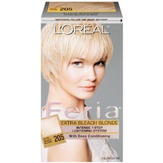 L'Oreal Paris Feria Hair Color, 205 Extra Bleach Blonde : Hair Highlighting Products : Beauty