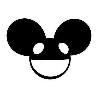 "DEADMau5 Full Face Logo Vinyl Decal Sticker 3"" PINK Automotive"