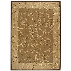 Indoor/ Outdoor Oasis Brown/ Natural Rug (7'10 x 11') Safavieh 7x9   10x14 Rugs