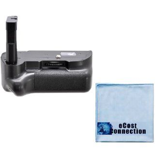 Battery Grip for Nikon D5300 DSLR Camera + Microfiber Cleaning Cloth by eCost Camera & Photo