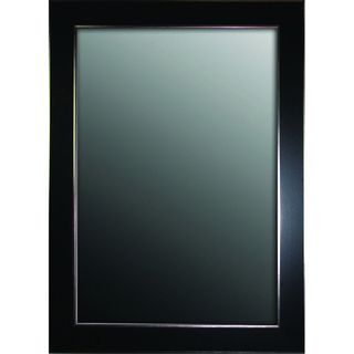 Black Forest With Silver Edged Trim 36 x 46 Mirror Mirrors