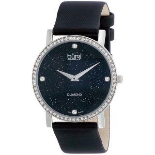 Burgi   Reloj pulsera de cuarzo suizo, con diamantes, para mujer Burgi Womens Burgi Watches