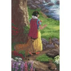 "Disney Dreams Collection By Thomas Kinkade Snow White 5""X7"" 18 Count MCG Textiles Cross Stitch Kits"