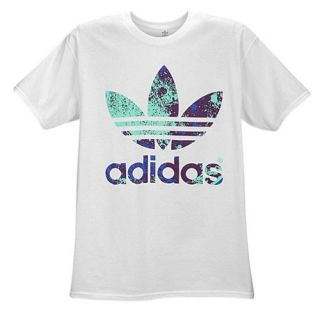 adidas Originals Graphic T Shirt   Mens   Casual   Clothing   White/Purple/Blue