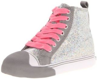 Morgan & Milo Sequined High Top (Toddler/Little Kid),Silver,9.5 M US Toddler: Shoes