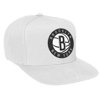 Mitchell & Ness NBA XL Logo Snapback   Mens   Basketball   Accessories   Brooklyn Nets   White