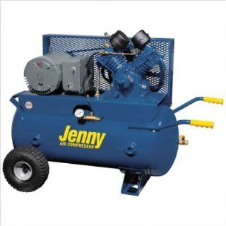 30 Gallon Tank 5 HP Electric 230 Volt Single Stage Wheeled Portable Air Compressor Air Line Filter   Metal Bowl   3/8 NPT No, Lubricator   Bowl Type   3/8 NPT Yes, Dual Control Yes   Jenny Air Compressor