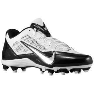 Nike Alpha Pro Low TD   Mens   Football   Shoes   White/Metallic Silver/Black