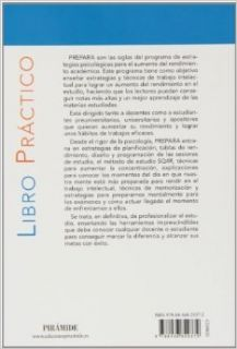 Mejorar el rendimiento en el estudio con el programa PREPARA: Ricardo Calza Gonz�lez: 9788436829372: Books