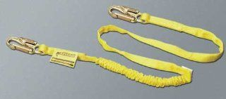Miller by Honeywell 231WRS/6FTYL 6 Feet Manyard Shock Absorbing Webbing Lanyard with Two Legged, 2 1/2 Inch Locking Rebar Hook, Yellow   Fall Arrest Restraint Ropes And Lanyards