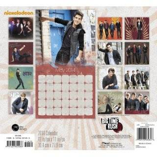 2014 Big Time Rush Wall Calendar Disney 9781423822486 Books