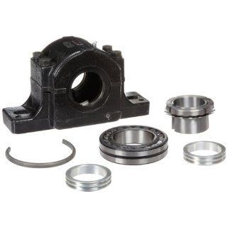 "Link Belt PLB6831R Spherical Roller Bearing Pillow Block, 2 Bolt Holes, Relubricatable, Non Expansion, Cast Iron, Adapter Mounted, Inch, 1 15/16"" Bore Diameter: Industrial & Scientific"