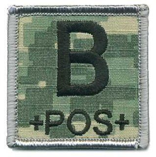 "Matrix 2x2"" Army Camo. ACU Square Blood Type Patch   B POS : Sports Fan Outdoor Flags : Sports & Outdoors"