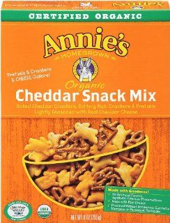 Annies Homegrown   Annie'S Homegrown Bunnies Cheddar Snack Mix 9 Oz (Pack of 12)   Packaged Animal Shaped Snack Crackers