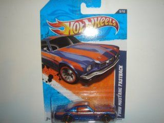 2011 Hot Wheels  Exclusive Ford Mustang Fastback Blue/Orange #89/244: Toys & Games