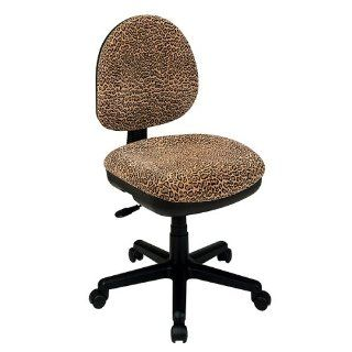OSP Work Smart DH3400 245 Bobcat Animal Print Office Task Desk Chairs   Adjustable Home Desk Chairs