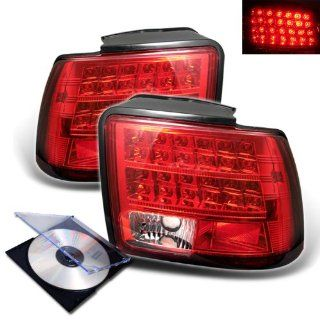 RXMOTOR 1999 2004 FORD MUSTANG EURO LED TAIL LIGHTS REAR BRAKE LAMP SIGNAL + INSTALL GUIDE: Automotive