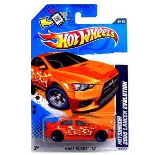 Hot Wheels Heat Fleet Mitsubishi 2008 Lancer Evolution Orange #158/247: Toys & Games